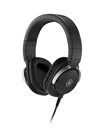 Yamaha HPH-MT8 Cuffie da Studio Over Ear - Cuffie Monitor Professionali, Pieghevoli, con Cavo da 3 m, Cavo a Spirale da 1,2 m e Jack Adattatore Stereo Standard da 6,3 mm - Nero