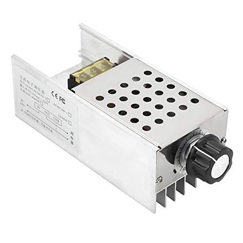 ZHITING regolatore di tensione, AC 220 V 6000 W, SCR, regolatore di tensione elettrico, regolatore di temperatura del motore, regolatore di velocit con grande dissipatore di calore per filo di