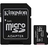 Kingston Canvas Select Plus Tarjeta microSD, SDCS2/64GB Class 10 con Adaptador SD, Negro