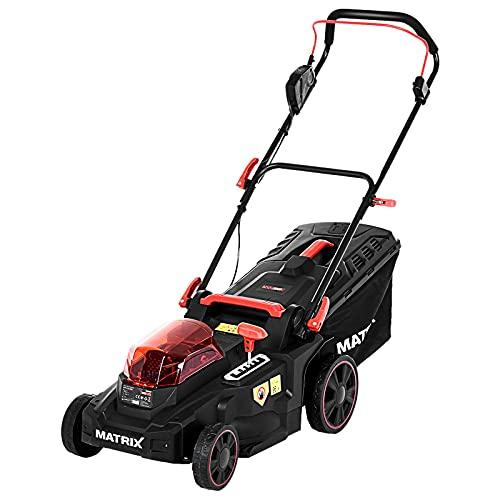 Cordless Lawn Mower 16 Inch 40V Li-Ion 2 Battery Powered...