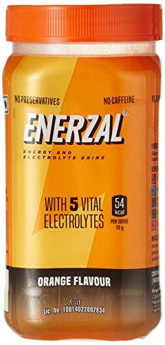 Enerzal Energy Drink Powder, Orange, 500 G