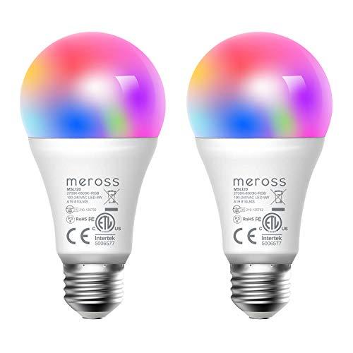スマートLED電球 Alexa対応 Meross E26 (調光)ミニ LED電球 スマート 調光 電球色 60W 800lm 色温度調節可 ...