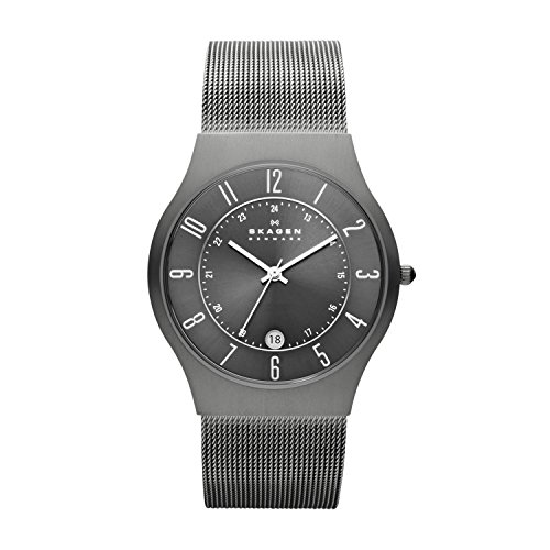 Skagen Men's Sundby Quartz Analog Stainless Steel and Mesh Watch, Color: Gunmetal (Model: 233XLTTM)