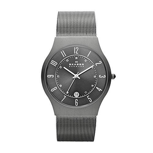 Skagen Men's Sundby Quartz Analog Stainless Steel and Mesh Watch, Color: Gunmetal (Model: 233XLTTM)