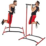 GoBeast Pull Up Bar Free Standing Dip Station, Portable Power Tower Home Gym Equipment, Storage Bag and Downloadable Exercise Manual