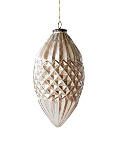 """Made from mercury glass Antique champagne finish 6. 25""""L x 6. 25""""W x 11. 75""""H Package Length of the Product: 8.66"""""""
