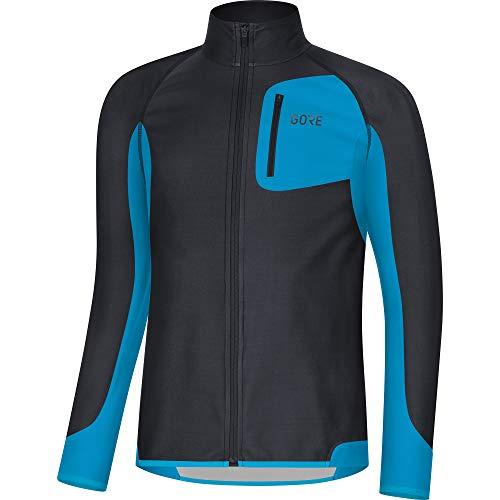 GORE WEAR Men R3 Partial WINDSTOPPER Shirt black/dynamic cyan Small 100287
