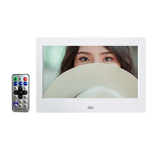"""Epyz HD Ready Digital Photo Frame with Fully Remote Functional (7"""" inch/White)"""