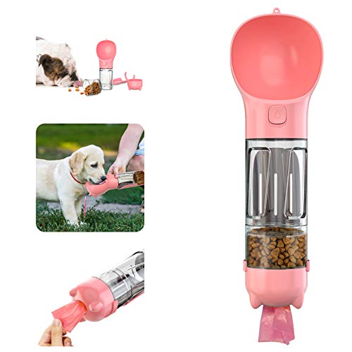 Dog Water Bottle for Walking, Multifunctional and Portable Dog...