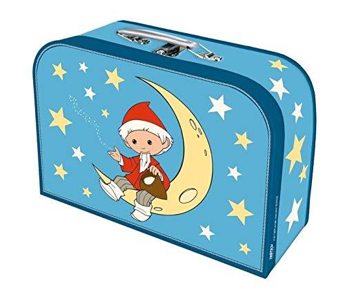 """Trötsch Kinderkoffer \""""Sandmann\"""" Mond groß, Pappkoffer, Koffer aus Pappe, Geschenk Verpackung, Gutschein Verpackung,Spielkoffer, Metallgriff und ... Kinder: 29 x 20 cm (Unser Sandmännchen)"""