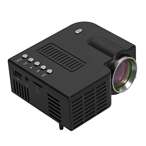 NingdeCK - Mini proiettore a LED, compatibile con TV Stick, 5V, HDMI, VGA, TF, AV, USB, Non null,...
