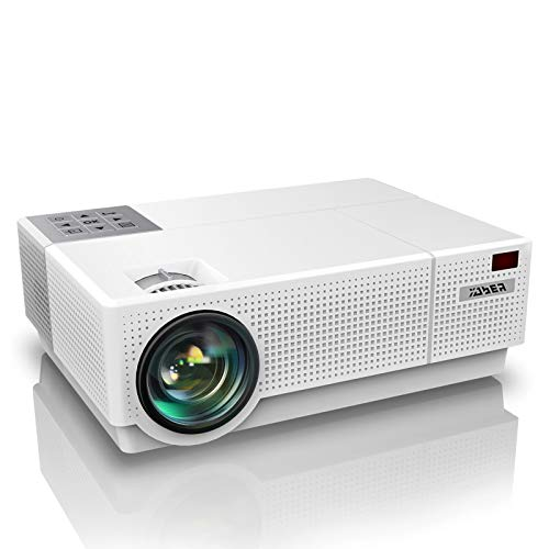 Vidéoprojecteur, YABER 6800 Lumens Video Projecteur Full HD 1080P (1920 x 1080) Retroprojecteur avec Correction Trapézoïdale 4D, Soutien 4K 90,000 Heures Projecteur LED pour Home Cinéma