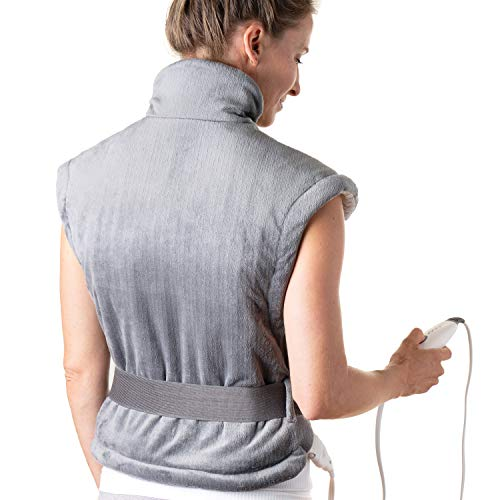 Pure Enrichment PureRelief XL Heating Pad for Back & Neck - Heat Therapy for Muscle Pain in Neck, Back and Shoulders - Ideal for Cramps and Sore Muscles - Fast-Heating Technology with Auto Shut-Off