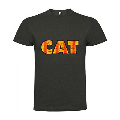 Camiseta Catalunya Tapies Manga Corta Hombre Plomo 2XL