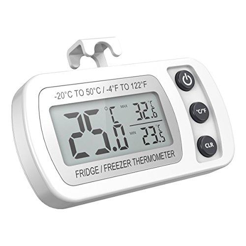 Oria Termometro Digitale Frigorifero, Congelatore Termometro Impermeabile Con Gancio, Facile Da...