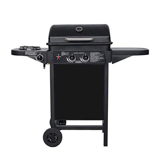 BROILUCK Barbecue à gaz d'extérieur 2 + 1 brûleurs