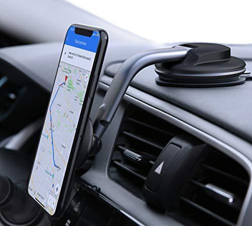 AUKEY Car Phone Mount 360 Degree Rotation Dashboard Windshield Car Phone Holder