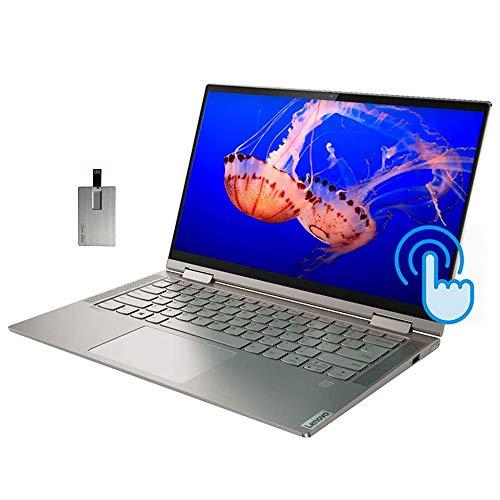 2021 Lenovo Yoga C740 2-in-1 14' FHD Touchscreen Laptop Computer, Intel Core i5-10210U, 8GB RAM, 256GB SSD, Backlit KB, Fingerprint Reader, Intel UHD Graphics, Windows 10, Mica, 32GB SnowBell USB Card