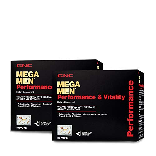 GNC Mega Men Performance Vitality Vitapak Program - Daily Multivitamin -Twin Pack