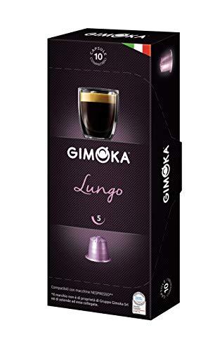 Cápsula de Café Lungo Gimoka, Compatível com Nespresso, Contém 10 Cápsulas