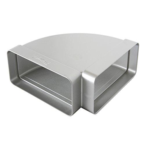 La Ventilazione CCO126AC Curva Orizzontale in ABS per Tubo Rettangolare, Cromato Satinato, 120x60 mm