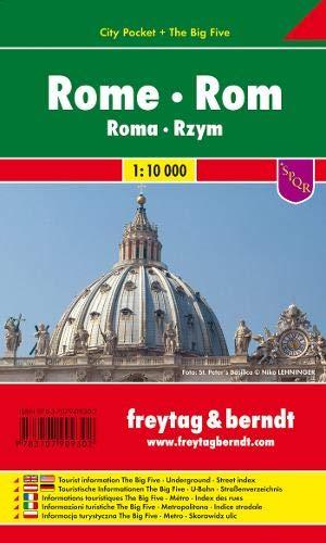 Roma, plano callejero de bolsillo plastificado. Escala 1:10.000. Freytag & Berndt.: Stadskaart 1:10