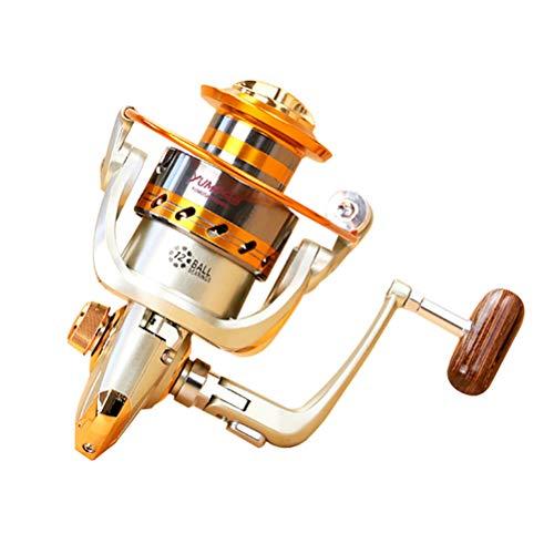 SASKATE Mulinelli da Pesca, Alluminio Spinning 12BB 1000-6000Series 5.5:1 Mulinello da Pesca a Mosca Baitcasting Saltwater Okuma Baitrunner Metallo Front Drag, H35U1459XXA78J26, 6000, 6000