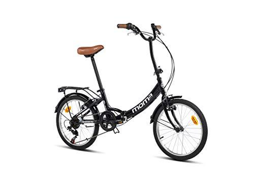 Moma Bikes Unisex– Erwachsene First Class schwarz Klappräder