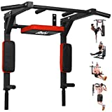 BESTHLS Pull Up Bar Wall Mounted Chin Up Bar Wall Mount Multifunctional Dip Station for Indoor Home Gym Workout,Power Tower Set Training Equipment Fitness Dip Stand Supports to 440 Lbs