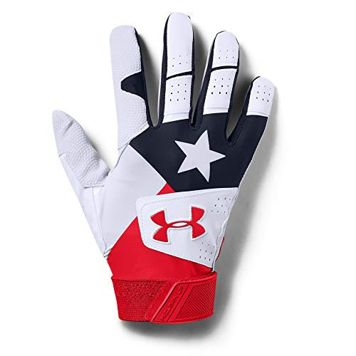 Under Armour Men's Clean Up 19 - Culture Baseball Glove White (100)/Red Large