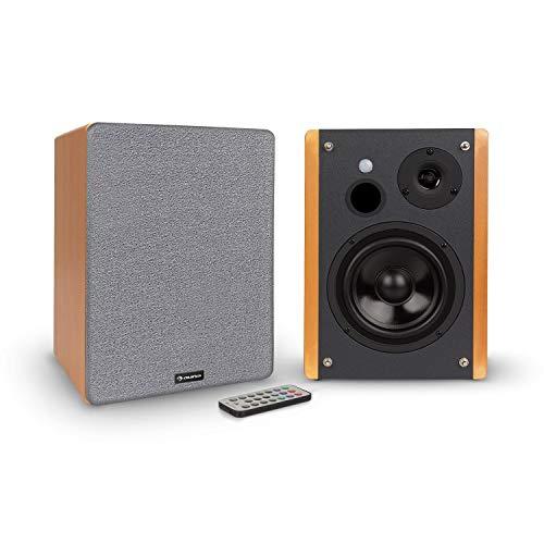 AUNA Line 500 A -Speakers da Mensola, Coppia Casse, Altoparlanti Attivi, 2 x 60 W, 2 x 30 W RMS,...