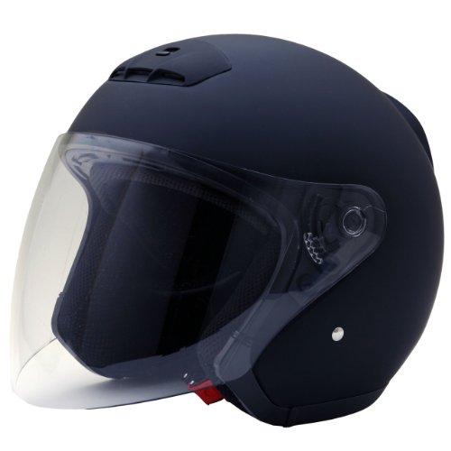 ネオライダース (NEO-RIDERS) MA03 オープンフェイス シールド付 ジェット ヘルメット マットブラック Lサイズ 59-60cm SG/PSC MA03