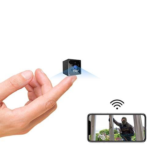 Telecamera Nascosta,AOBO 4K HD Mini Telecamera Spia Wifi Portatile Microcamera con Visione Notturna Piccole Videocamera di Sorveglianza Senza Fili Spy Cam Rilevamento di Movimento per Esterno/Interno