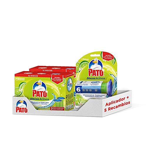 PATO Pack Discos Activos WC Lima, Contiene 1 Aplicador + 5 R