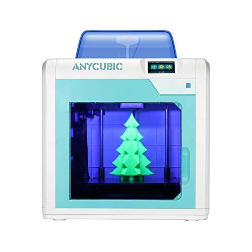 Stampante 3D ANYCUBIC 4Max Pro Dimensioni di stampa 270x205x205mm silenziosa Spegnimento automatico con piano di stampa Ultrabase Estrusore TAITAN Filamenti compatibili ABS TPU PLA