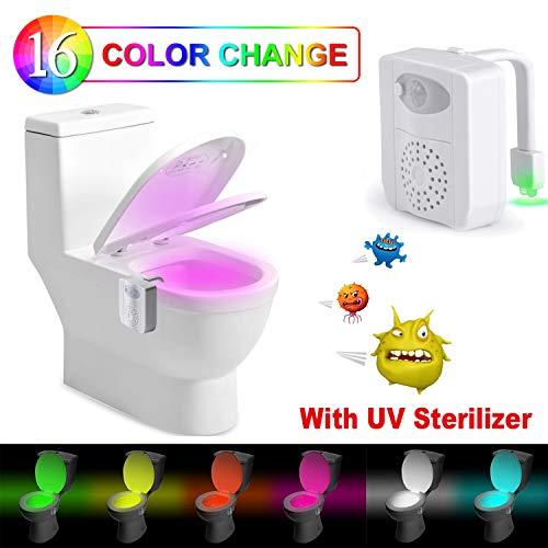 Luce WC Lampada WC Notturna Rantizon LED Lampada Notturne de WC con Luce di Disinfezione a Raggi UV...