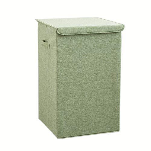 XHSSF wäschekorb mit Deckel großer wäschesammler Foldable waschbar multifunktional für Bad Schlafzimmer-Grün_groß
