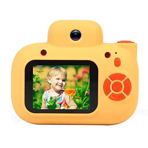 YLHXYPP Fotocamera digitale for bambini - pu scattare foto video mini piccola reflex giocattolo (95 * 55 * 75mm) (Color : Yellow)