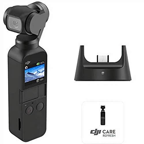 DJI Osmo Pocket Prime Combo - Fotocamera Stabilizzata a Tre Assi con Kit Accessori e Care Refresh, Camera Integrata 12 MP 1/2.3' CMOS, Video in 4K, Collegabile a Smartphone, Android, iPhone - Black