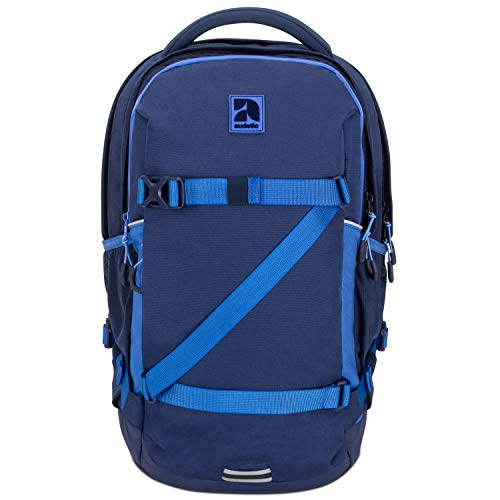 Schulrucksack Mädchen, Jungen, Teenager Blau/Navy- Audetic Cosmo Ergonomischer Schulranzen aus Recycelten PET Flaschen - Nachhaltiger Rucksack für Schule, Freizeit, Reisen - Wasserabweisend