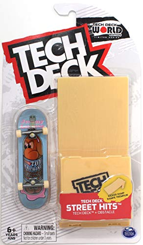 TECH DECK Street Hits World Edition Limited Series Toy Machine Skateboards Jeremy Leabres Bottle Noah Complete Fingerboard and Kicker Ramp Obstacle