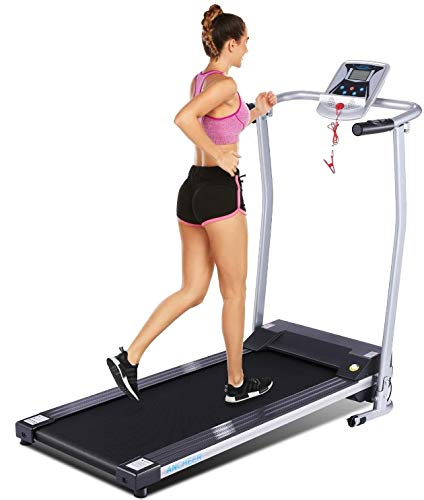 ANCHEER Treadmill, Electric Treadmills for Home with LCD Monitor Walking Running Machine Equipment for Home Gym (Sliver) 1