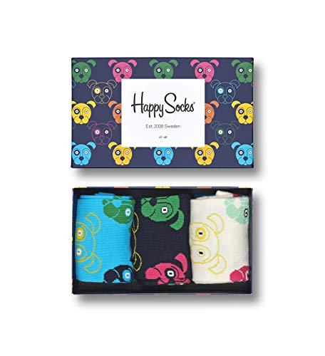 Happy Socks 3 Pack Animal Gift Box Calzini, Multi, 3-7 (36-40) Unisex-Adulto