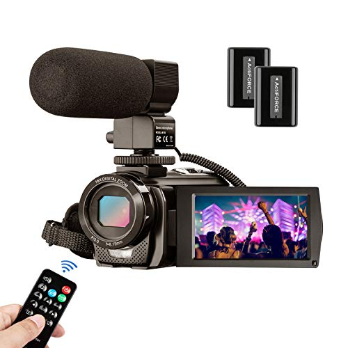 Videocamera MELCAM Fotocamera Digitale Full HD 1080P 30FPS 24MP Schermo LCD 3 Pollici Ruotabile 270° Webcam Zoom Digitale 16X Camcorder con Telecomando e Microfono