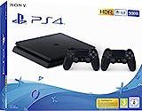 Lieferumfang: PlayStation 4-System 500 GB, 2 Dualshock 4 Wireless-Controller, Mono-Headset, HDMI-Kabel, Netzkabel, USB-Kabel, Bedienungsanleitung PlayStation 4 die meistverkaufte Konsole der Welt jetzt noch leichter und in einem schlankeren Design. D...