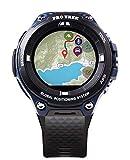 Casio Men's 'Pro Trek' Outdoor GPS Resin Sports Watch, Color: Black & Indigo Blue (Model WSD-F20A-BUAAU)