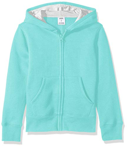 Amazon Essentials Fleece Zip-up Hoodie, fashion-hoodies Bambina, acqua, 3T (Talla produttore: 95 cm)