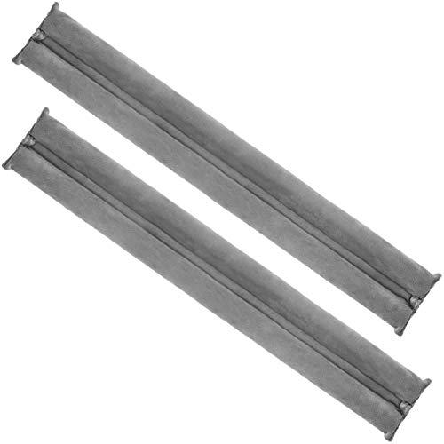 com-four® 2X Zugluftstopper für die Tür - Mikrofaser Türbodendichtung - Luftzugstopper mit Doppeldichtung - Schutz vor Luftzug und Lärm (02 Stück - anthrazit)