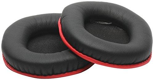 YAXI ヤクシー for studio headphone DX MDR-CD900ST対応 交換イヤーパッド レッド&ブラック stpad-DX-R&B