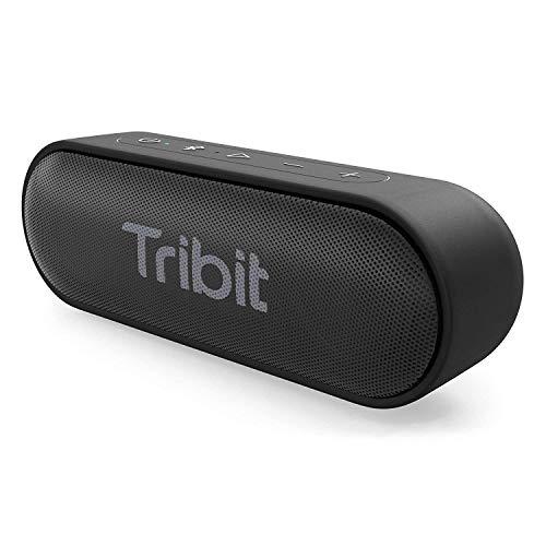Bluetooth Lautsprecher, Tribit XSound Go Tragbarer Lautsprecher IPX7 Wasserdicht,12W Kabelloser Lautsprecher mit Bass+, 24 Stunden Spielzeit, 20M Bluetooth Reichweite (Schwarz)